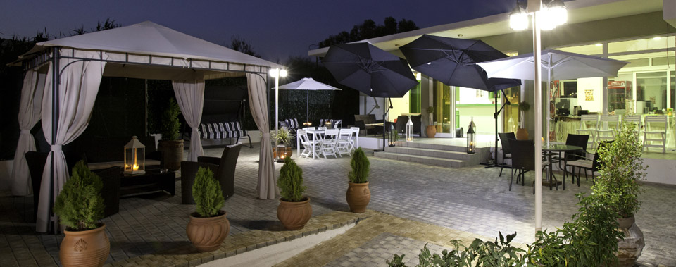 Enjoy our terrasse by day and night